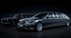 Mercedes, la Pullman griffata Maybach: un salotto viaggiante per reali e super vip