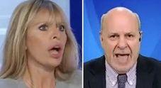 Mussolini-Friedman, lite e insulti a L'Aria che tira: «Str...!», «cafona» VIDEO