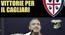 Cagliari-Napoli, Mertens segna e lascia a secco i sardi: le reazioni social