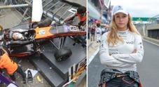 Sophia Floersch, incidente a 200 km/h in F3 a Macao: frattura spinale, domani l'operazione