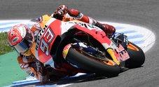 Gp Spagna, Honda di Marquez domina a Jerez. Iannone (Suzuki) è 3°, Valentino chiude 5°