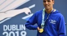 Il napoletano Vincenzo Boni campione d'Europa: «Il mio oro per Genova» (foto di Augusto Brizzi)