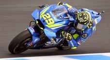 GP Australia, la Suzuki di Iannone leader delle prove libere. Petrucci su Ducati e la Yamaha di Vinales a seguire