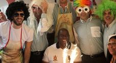Capri: pranzo di ferragosto con compleanno per Magic Johnson e Samuel Jackson a Villa Verde