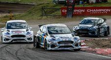 Rallycross elettrico, vince la Ford Fiesta di Ken Block: 3 motori, oltre 600 cv