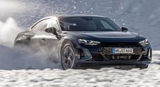 Audi e-tron GT, il missile elettrico dei Quattro Anelli debutta sul lago ghiacciato