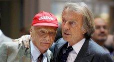 Montezemolo:«Caro Niki tu grande in pista e fuori. Ex presidente Ferrari ricorda l'amico:«Mi lascia grande vuoto»