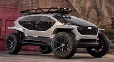 AI Trail: il fuoristrada del futuro secondo Audi. 4 motori elettrici, guida autonoma, droni al posto dei fari