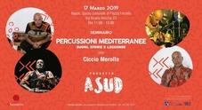 A Sud con Ciccio Merolla, percussioni mediterranee a Forcella