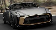 Nissan GTR50 da 720 cv e 900.000 euro realizzata con Italdesign protagonista al Festival of Speed