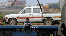Il pick-up Toyota nel quale viaggiavano Ialria Alpi e Miran Hrovatin, raggiunti da raffiche di mitra