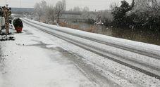 Strade bloccate per la neve