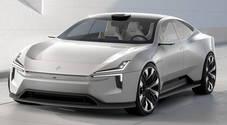 Precept sfida la Taycan, a Ginevra la supersportiva elettrica di Polestar all'insegna di sostenibilità e high tech