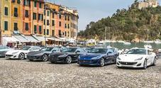 Ferrari Portofino, al via il tour. Dalla località ligure 20 gioielli attraversano l'Europa