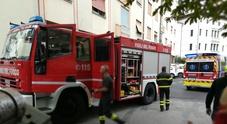 I vigili del fuoco nel condominio di via Campo Marzio