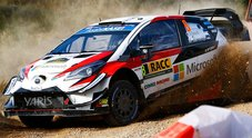Toyota di Tanak in testa al Rally di Catalogna. Neuville (Hyundai) in difficoltà è nelle retrovie