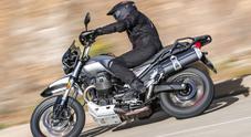 """Moto Guzzi V85 TT in sella su strada ed in off road alla """"classic enduro"""" dell'Aquila"""