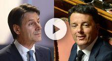 Video Conte come Renzi tre anni dopo: «L'Italia non è più sola»