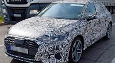 """Audi, sul web le prime foto """"spia"""" della nuova A3. Look evoluto e tanta tecnologia a bordo"""