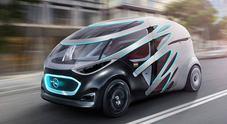 """Mercedes svela Vision Urbanetic, il trasporto condiviso a guida autonoma della Stella è un veicolo """"trasformista"""""""
