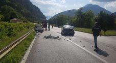 La scena dell'incidente sulla Pontebbana
