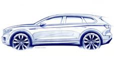 Volkswagen Touareg, il teaser che annuncia la 3^ generazione dell'ammiraglia a ruote alte