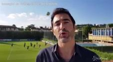 Il giornalista Rai Antinelli sfiorato da una pallonata a Coverciano