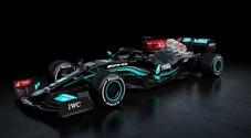 Mercedes svela la W12, il nuovo bolide della F1 per la stagione 2021