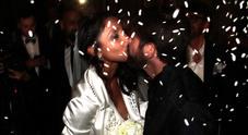 Juliana Moreira sposa l'inviato di Striscia, sì da favola a Milano