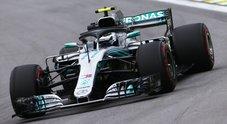 Gp Brasile, Mercedes davanti ma Ferrari di Vettel vicina. Bottas davanti Hamilton. Seb: «Noi abbastanza bene»