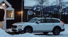 Volvo libera dallo stress, l'ospitalità nello chalet include l'utilizzo della V90 Cross Country