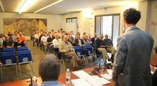 Il sindaco Massaro ieri alla riunione per il Nevegal