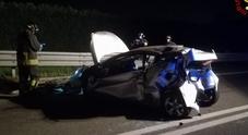 Una scena dell'incidente di ieri sera a Vicenza