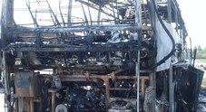 Immagine Bus turistico in fiamme: autista eroe salva tutti