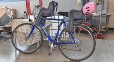 La bicicletta coinvolta nell'incidente di Montebelluna (foto Alvise Bortolanza per Nuove Tecniche)