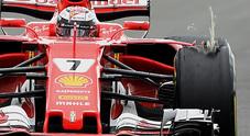 F1, Pirelli: «Nessuna criticità sul pneumatico di Raikkonen. Probabile urto con corpo esterno»