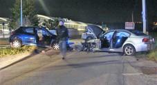 Paura in zona Fratte Un violento frontale fra due auto con tre feriti