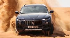 Maserati, deserto di Levante: prova fra le dune di Dubai del rinnovato Suv del Tridente