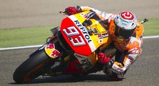 GP di Aragon, Marquez vince e ipoteca il titolo. Lorenzo 2° duella con Rossi e lo precede