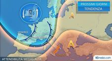 Meteo, Italia spaccata in due temporali e primi caldi tra il 25 aprile e il 1° maggio