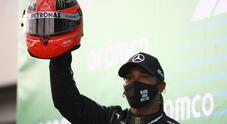 Live F1, GP Eifel: Hamilton nella storia, 91 vittorie come Schumacher. Ferrari settima