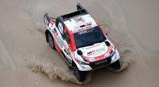 La Toyota di Al-Attiyah vince la 1^ tappa. Tra le moto Barreda Bort su Honda al comando