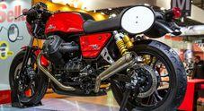 In pista con le V7 III Stone per il Moto Guzzi Fast Endurance. Kit comune per il massimo divertimento