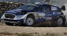 Rally di Sardegna, Tänak (Ford) balza in testa. Alle sue spalle Latvala (Toyota) e Neuville (Hyundai)