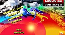 Italia spaccata in due Temporali e grandine al Nord caldo africano al Sud