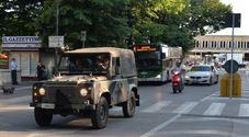 Un pattugliamento dell'esercito a Treviso nel corso della recente operazione strade sicure