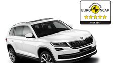 Skoda Kodiaq, sicurezza ai massimi livelli: ottiene le cinque stelle nei test Euro NCAP