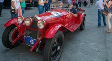 GP Nuvolari, in testa la Fiat 508C del 1939 di Moceri Bonetti. 2^ l'altra Fiat 508C, poi una Lancia Aprilia
