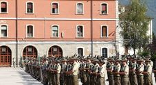 Militari alla caserma Salsa di Belluno