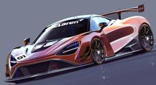 """McLaren 720S GT3, su Instagram svelata il futuro """"missile"""" da corsa: in pista dalla stagione 2019"""